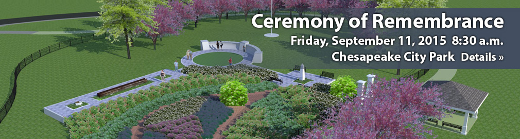 Ceremony of Rememberance - Chesapeake City Park - September 11, 2015 8:30 p.m. - Get more details