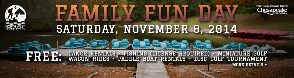 Family Fun Day at Northwest River Park - November 8, 2014 - Click for more info