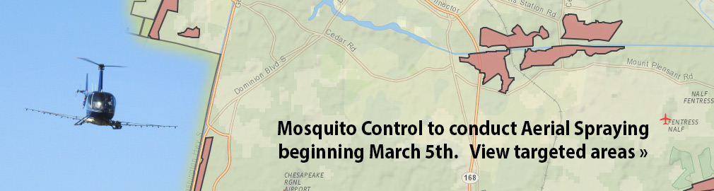 Mosquito Control Aerial Spraying starts April 9th - View targeted areas