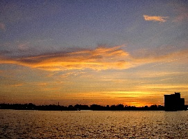 Picture of the sunset over the Elizabeth River