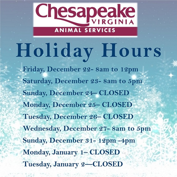 CAS Holiday Hours