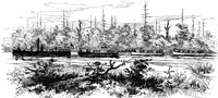 Civil War Trails - Village of Deep Creek - Passage of Union boats through the Dismal Swamp Canal