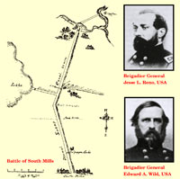 Civil War Trails - Dismal Swamp - Battle of South Mills and two generals