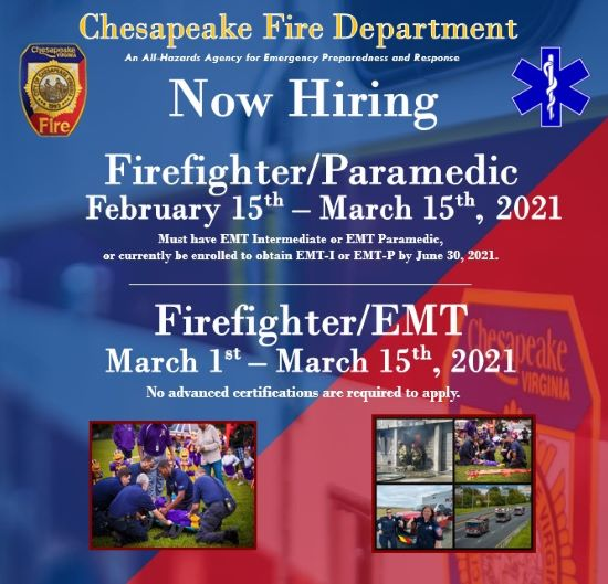 Now Hiring Paramedic and EMT