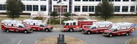 All CFD Trucks and City Hall