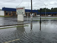 flooding in shopping center