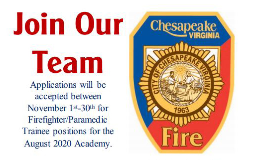 Join Our Team! Chesapeake Fire Department
