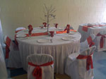 Wedding Reception Table at Cuffee Center Club Room