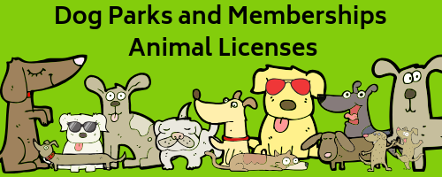 Dog Parks and Animal Licenses Page Banner