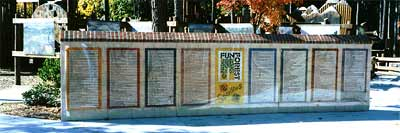 Decorated wall at the playground - photograph