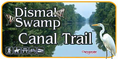 Dismal Swamp Canal Trail Entrance Sign - photograph