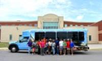 City Bus and Group at Dr. Clarence V. Cuffee Community Center