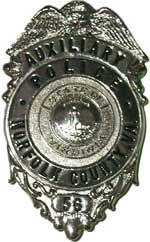 Norfolk County Auxiliary Police Badge