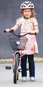 Little girl with a bike - photograph