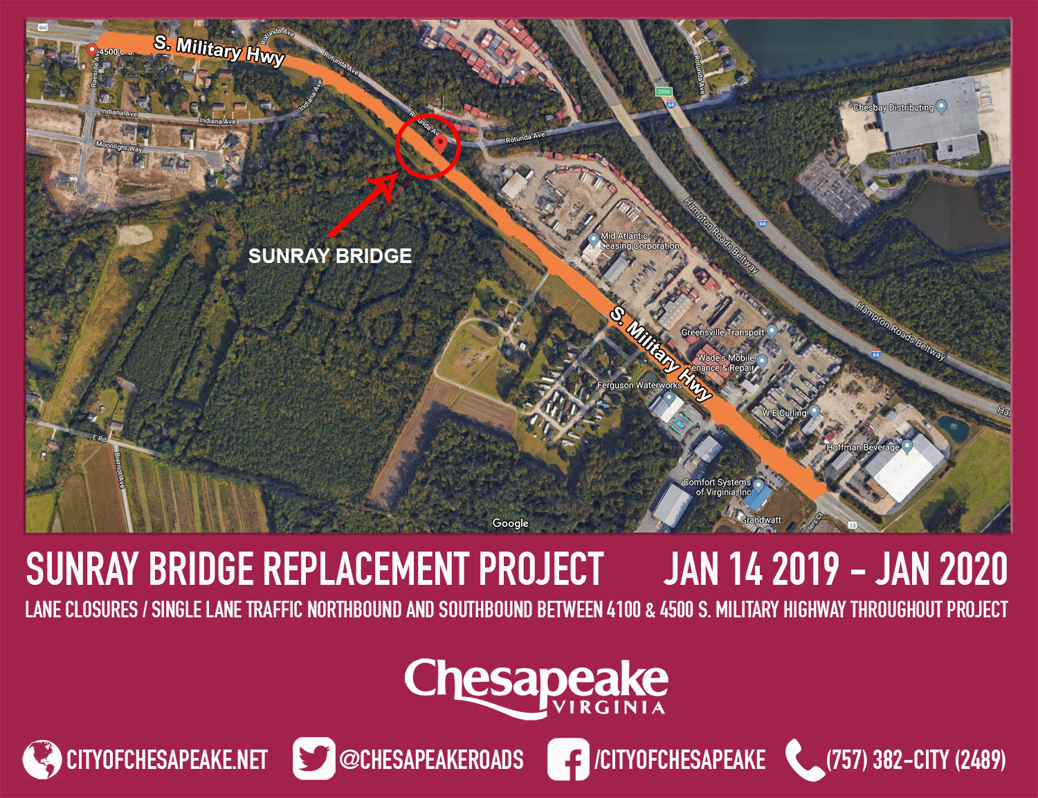 20181218 - Sunray Bridge Replacement Project Graphic