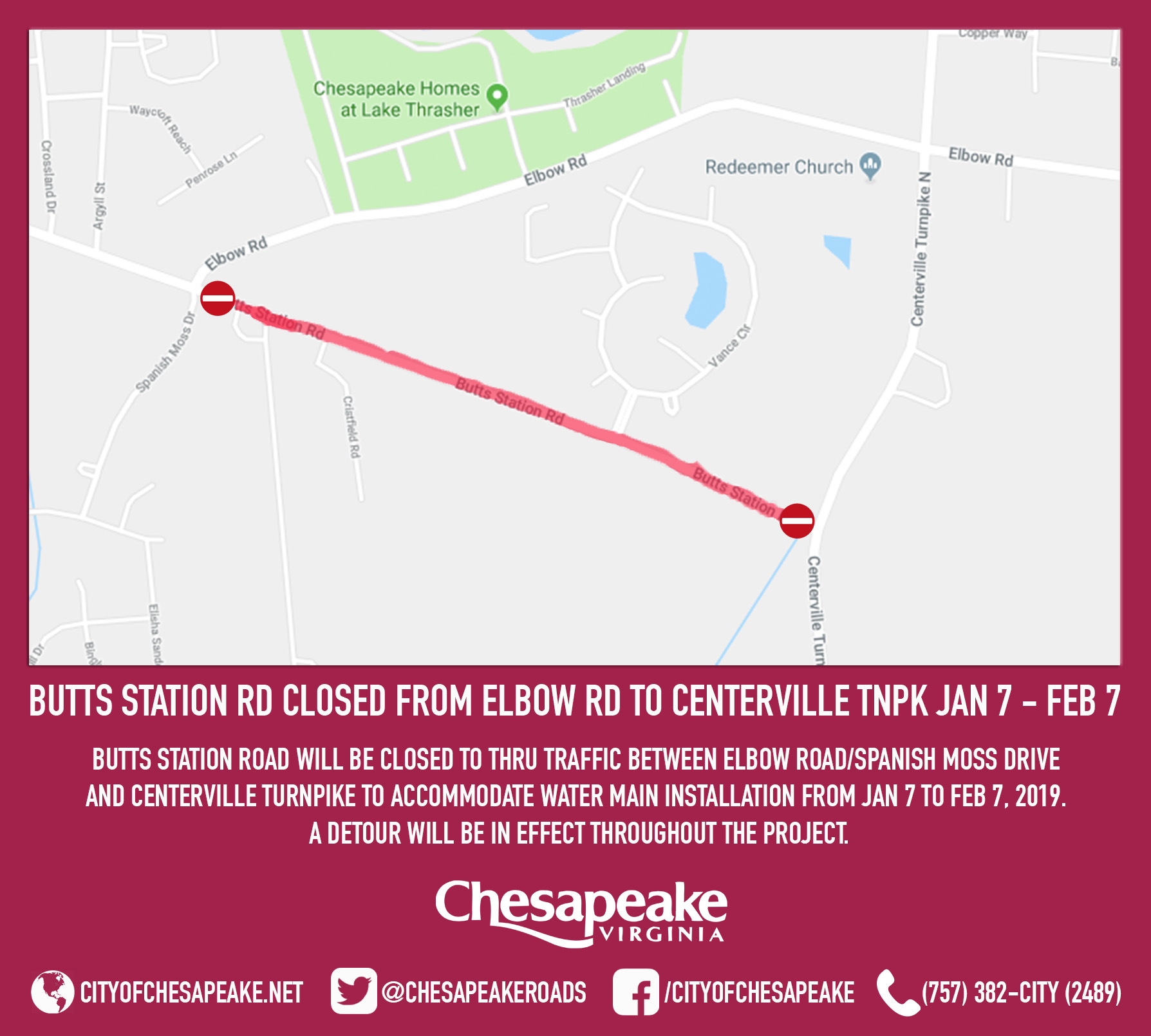20181221 - Butts Station Rd Closure