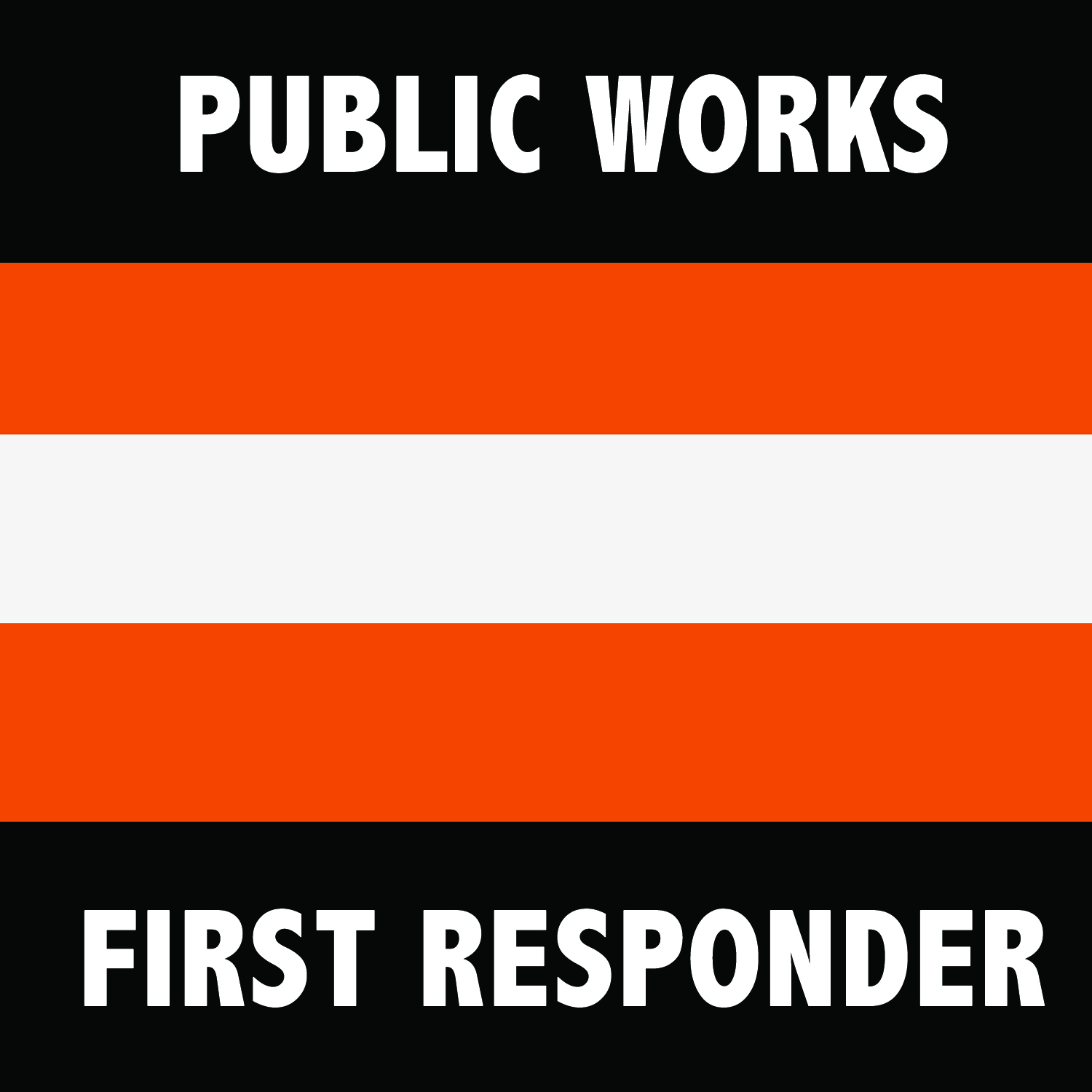 Public Works First Responder Symbol Square