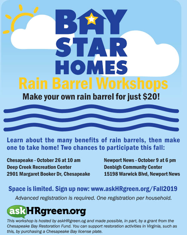 BSH Rain Barrel Workshop Flyer Fall 2019