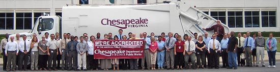 Chesapeake Public Works Department Accredited by the American Public Works Association. Click for larger photo