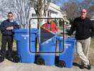 Blue Bins in 3 Sizes for Your Needs. We now have smaller bins to work for all types of space and size needs. Call 382-CITY for more information. - video