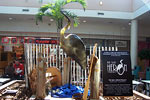 The Blue Heron sculpture displayed at Greenbrier Mall