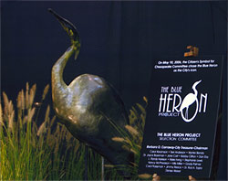 The Blue Heron unveiled at Chesapeake's Greenbrier Mall on September 7, 2006