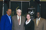 Former Mayors, Bill Ward and Sid Oman with Barbara Carraway and