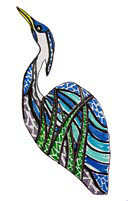 'Mosaic Heron' design by Kelly Wheeler
