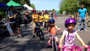 kids riding bikes at bike fest
