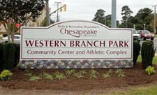 Western Branch Park Sign