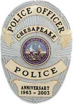 Chesapeake Police Department 40th Anniversary Badge