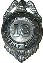 Norfolk County Police Badge