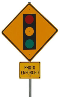 Photo Enforced sign - graphic