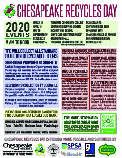 Chesapeake Recycles Day Flyer PNG 2019 Thumbnail